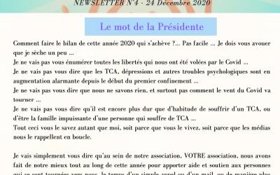 Newsletter n°4 – Décembre 2020