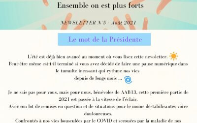 Newsletter n°5 – Aout 2021